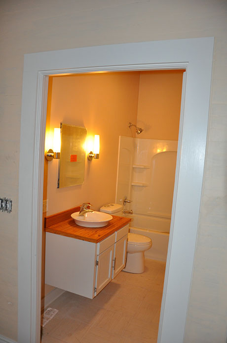 Apartment E Bathroom, Woodville Apartment Rental | Woodville Lofts & Studios, Mississippi, MS